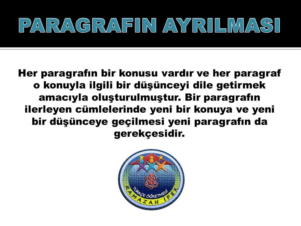 PARAGRAFIN AYRILMASI
