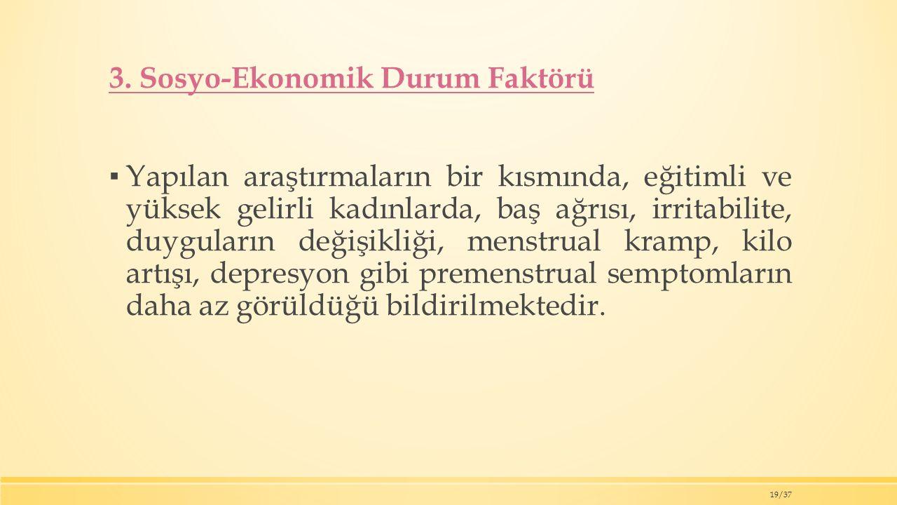 3. Sosyo-Ekonomik Durum Faktörü