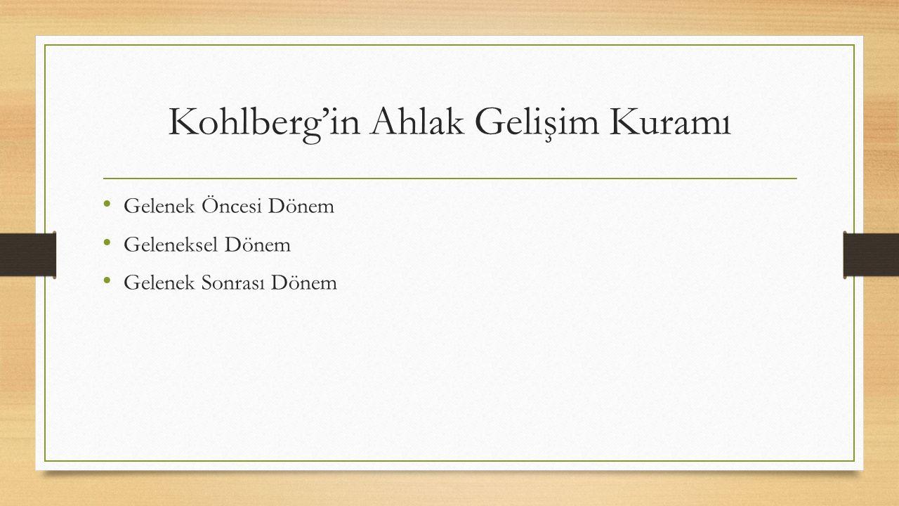 Kohlberg'in Ahlak Gelişim Kuramı