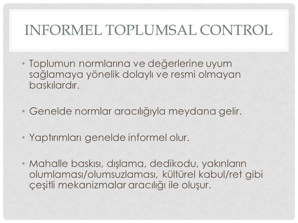 Informel toplumsal control