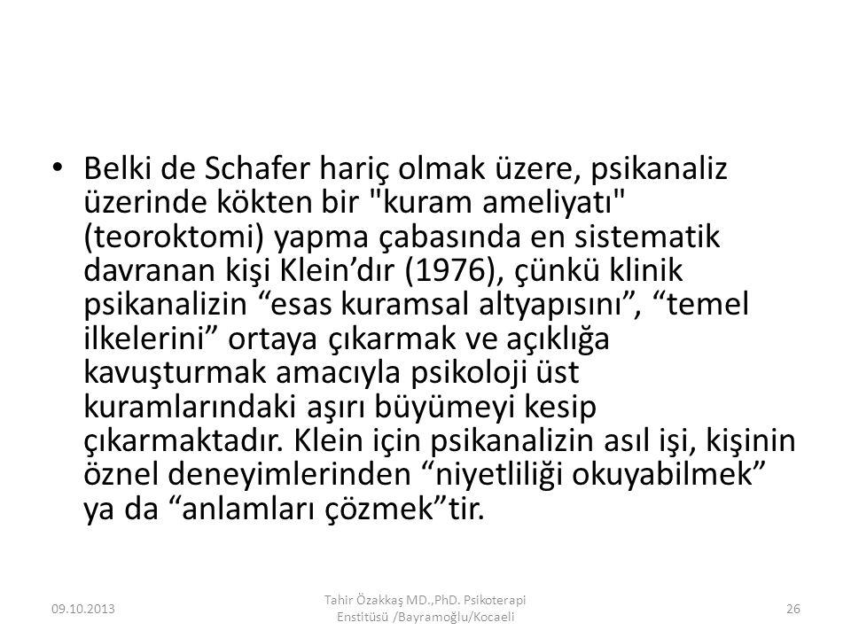 Tahir Özakkaş MD.,PhD. Psikoterapi Enstitüsü /Bayramoğlu/Kocaeli