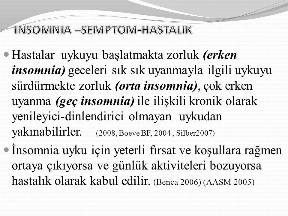 INSOMNIA –SEMPTOM-HASTALIK