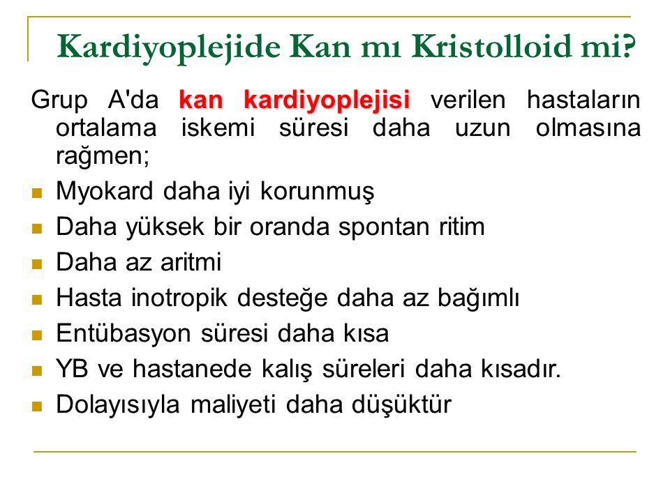Kardiyoplejide Kan mı Kristolloid mi