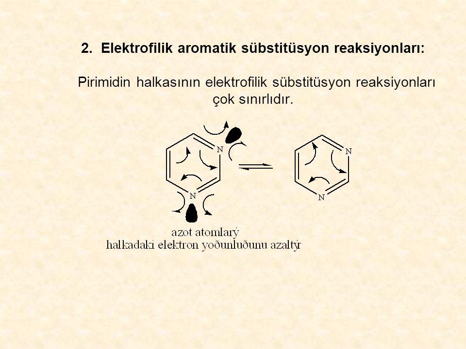 2. Elektrofilik aromatik sübstitüsyon reaksiyonları: