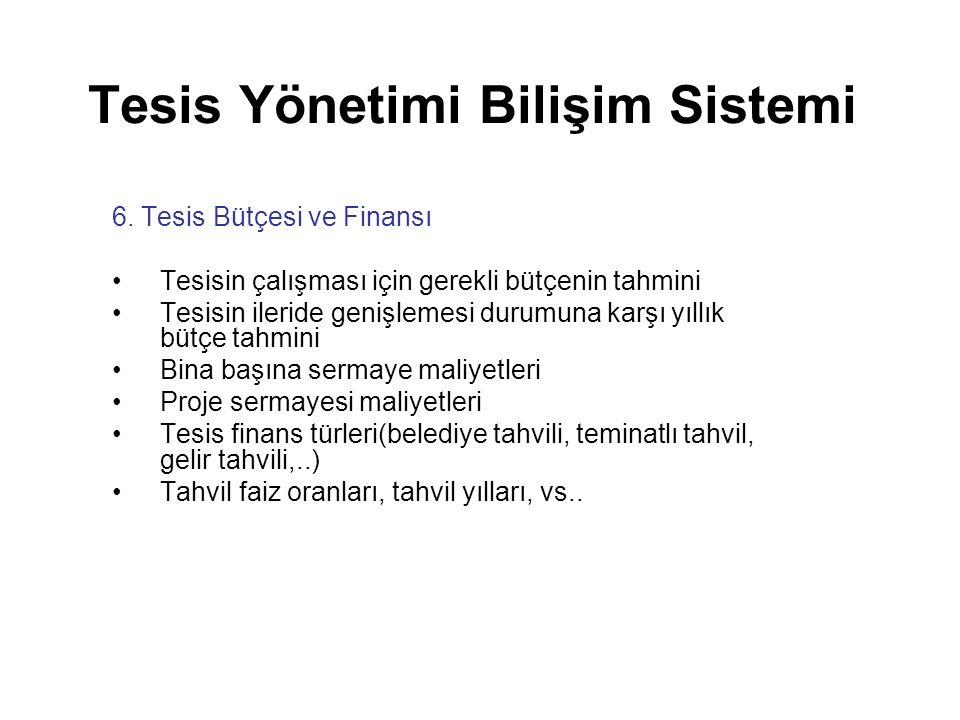 Tesis Yönetimi Bilişim Sistemi