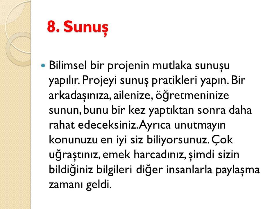 8. Sunuş