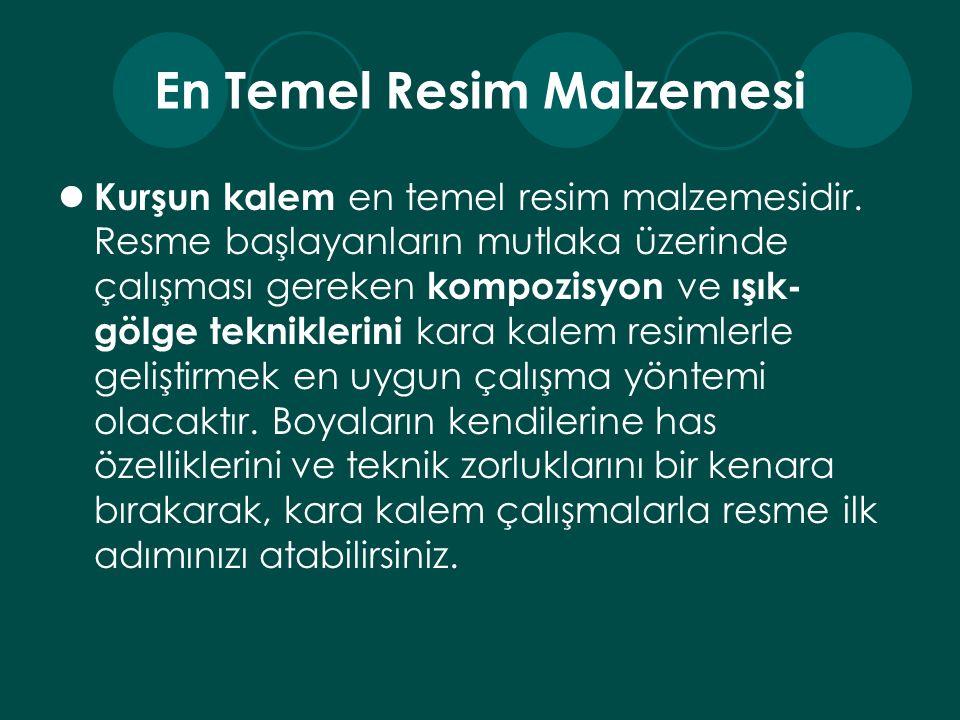 En Temel Resim Malzemesi