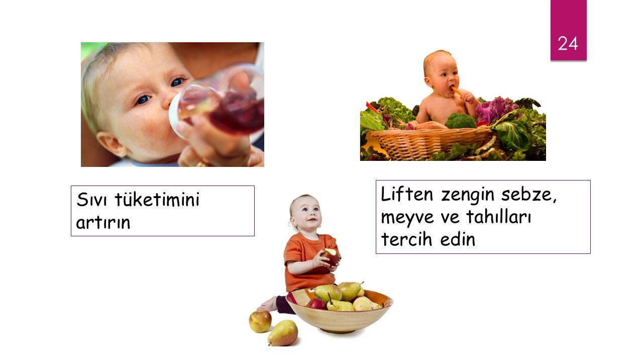 Liften zengin sebze, meyve ve tahılları tercih edin
