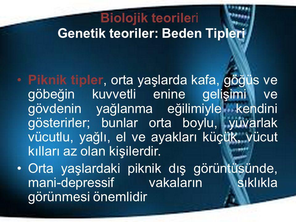 Biolojik teorileri Genetik teoriler: Beden Tipleri