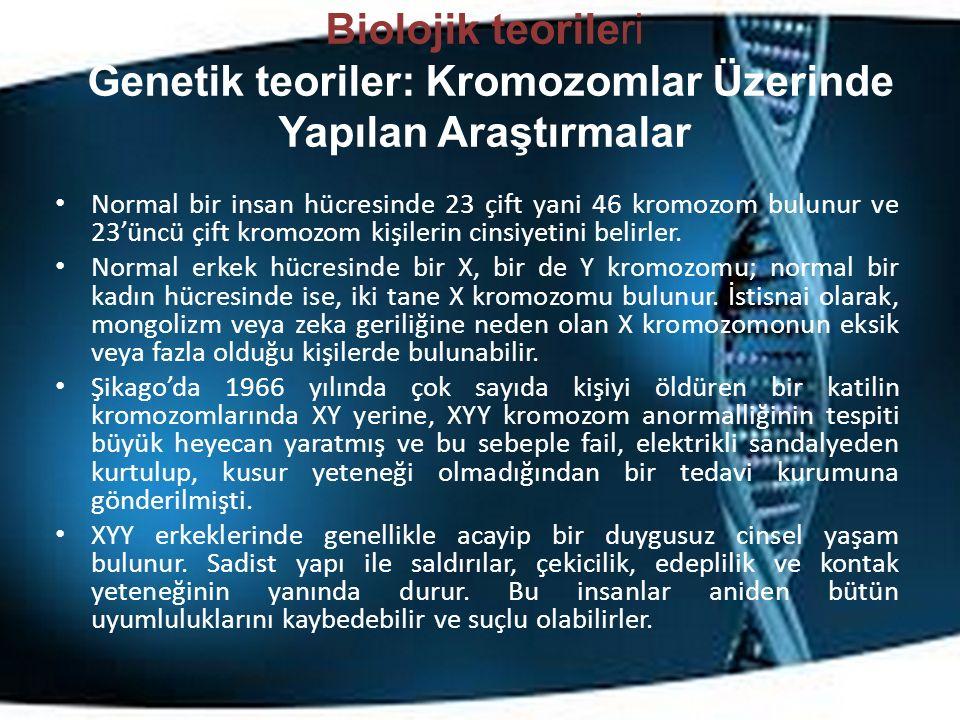 Biolojik teorileri Genetik teoriler: Kromozomlar Üzerinde Yapılan Araştırmalar