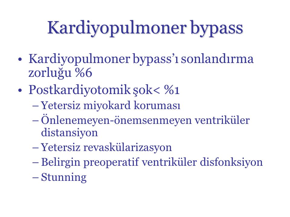 Kardiyopulmoner bypass