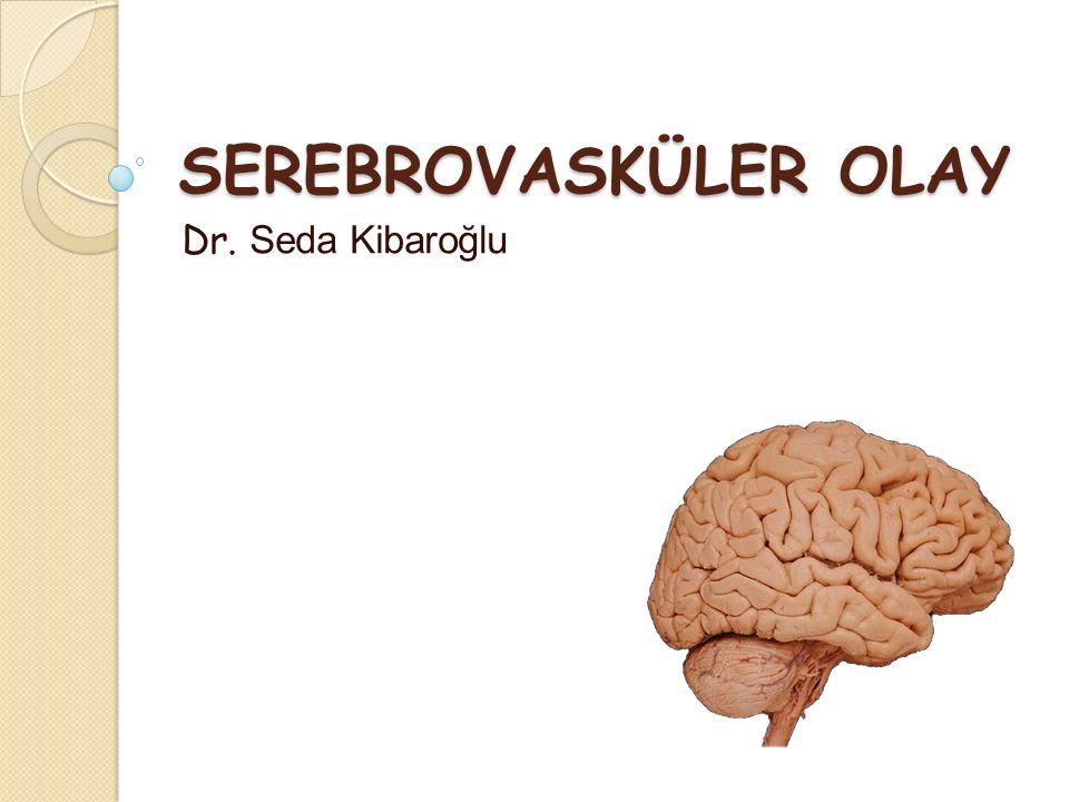 SEREBROVASKÜLER OLAY Dr. Seda Kibaroğlu