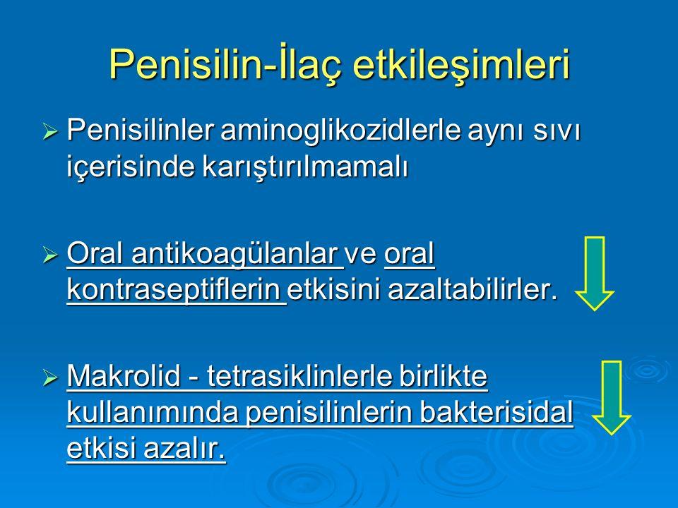 Penisilin-İlaç etkileşimleri