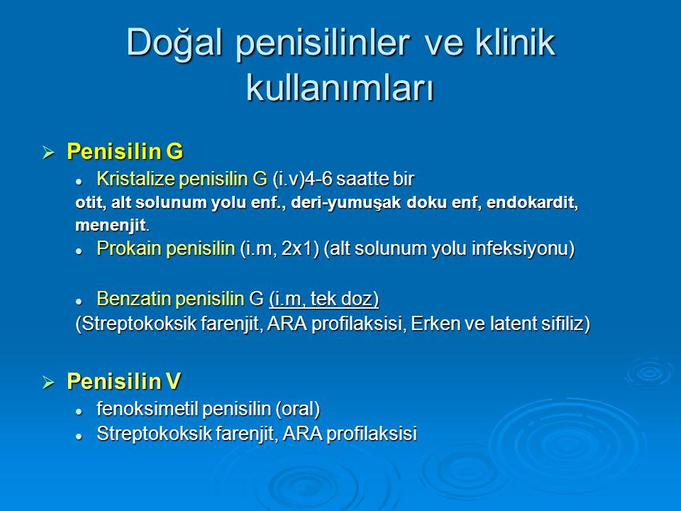 Doğal penisilinler ve klinik kullanımları