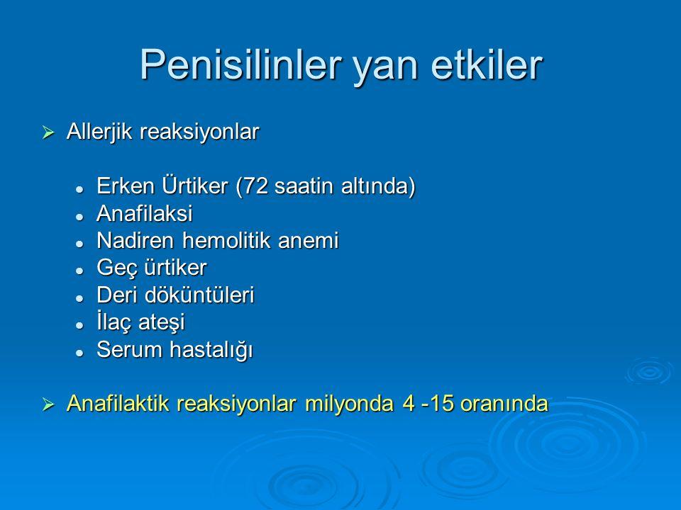 Penisilinler yan etkiler