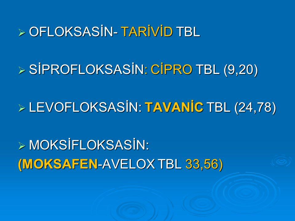 OFLOKSASİN- TARİVİD TBL