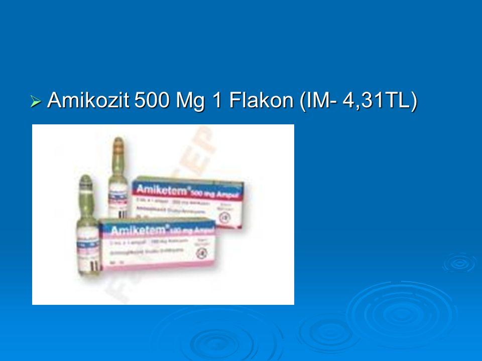 Amikozit 500 Mg 1 Flakon (IM- 4,31TL)