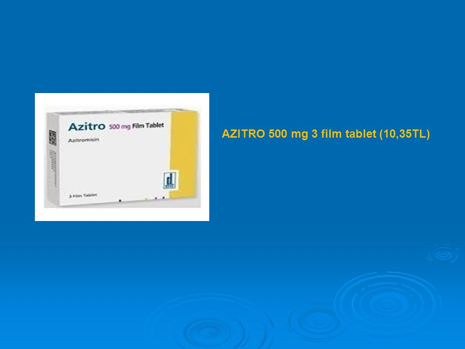 AZITRO 500 mg 3 film tablet (10,35TL)