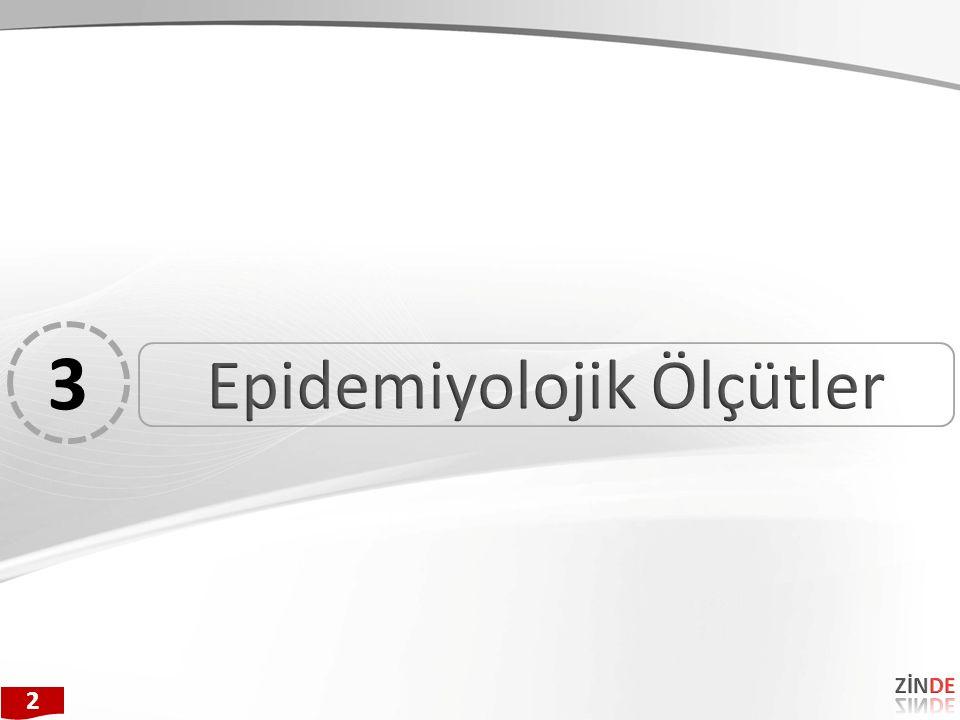 Epidemiyolojik Ölçütler