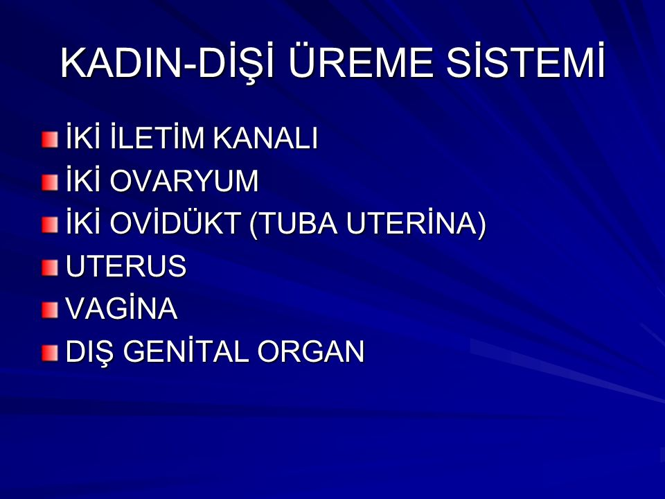 KADIN-DİŞİ ÜREME SİSTEMİ