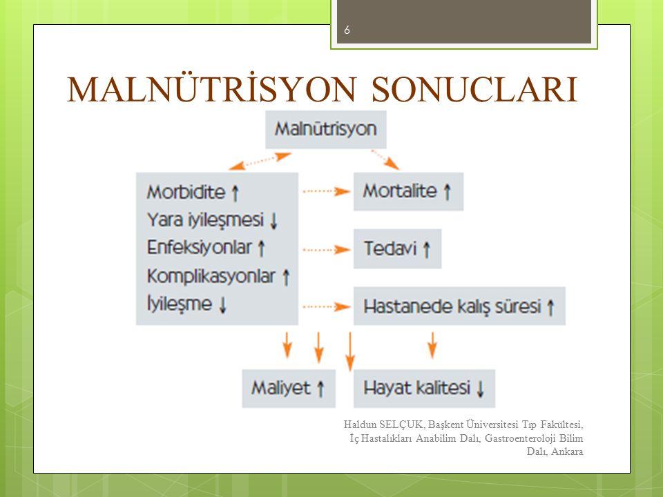 MALNÜTRİSYON SONUÇLARI