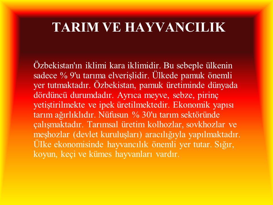 TARIM VE HAYVANCILIK