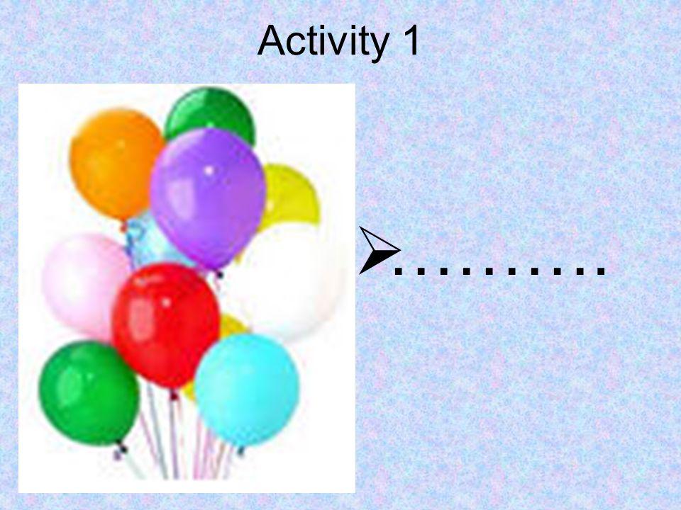 Activity 1 ……….