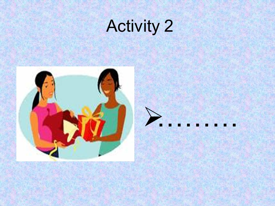 Activity 2 ………