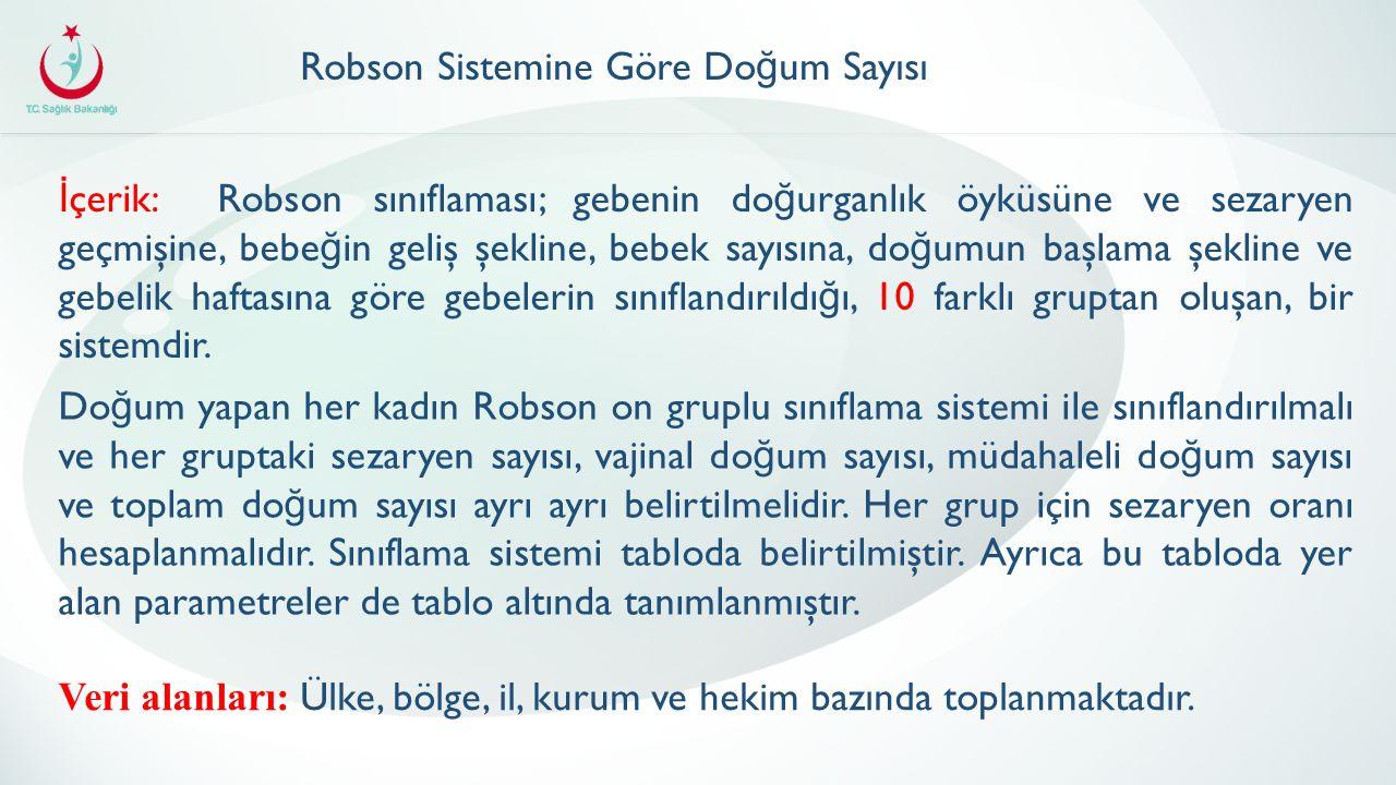 Robson Sistemine Göre Doğum Sayısı