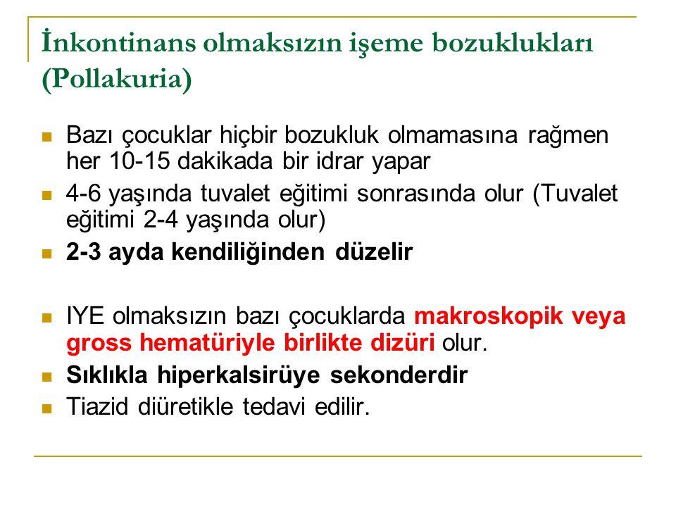 İnkontinans olmaksızın işeme bozuklukları (Pollakuria)