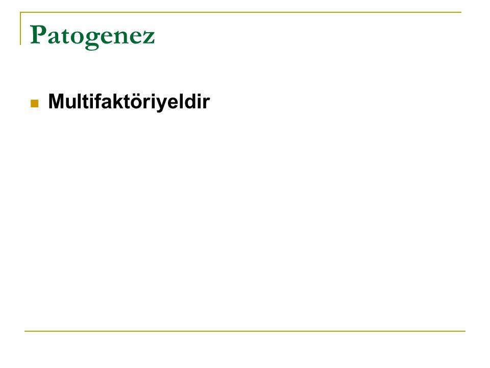 Patogenez Multifaktöriyeldir