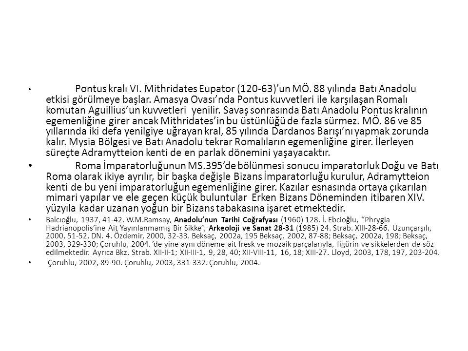 Pontus kralı VI. Mithridates Eupator (120-63)'un MÖ