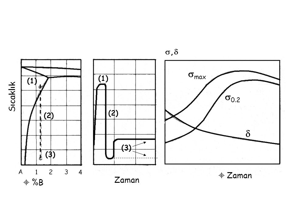 , max (1) (1) 0.2 Sıcaklık (2) (2)  (3) (3)  Zaman Zaman  %B