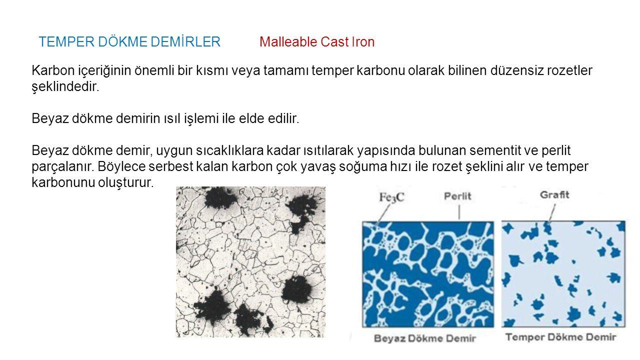 TEMPER DÖKME DEMİRLER Malleable Cast Iron