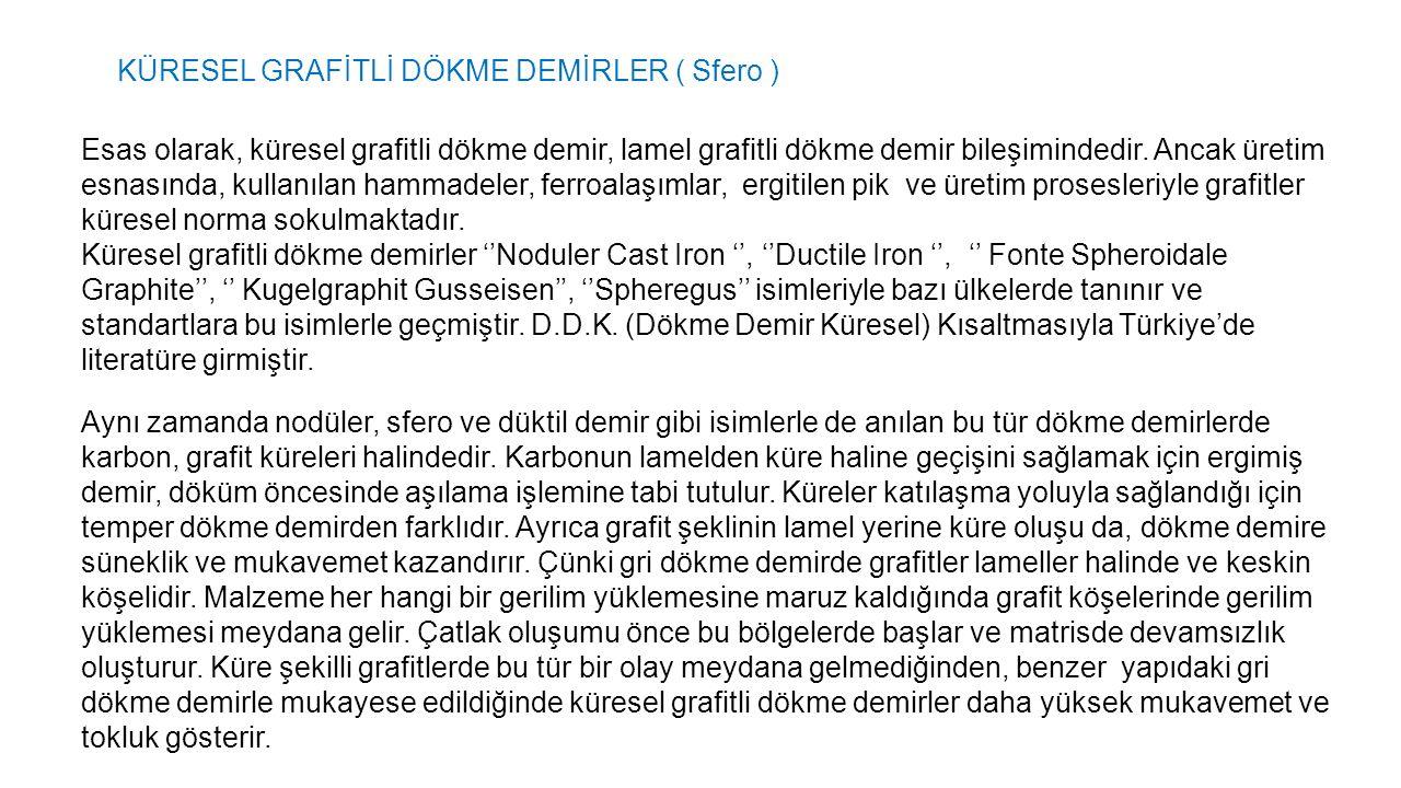 KÜRESEL GRAFİTLİ DÖKME DEMİRLER ( Sfero )
