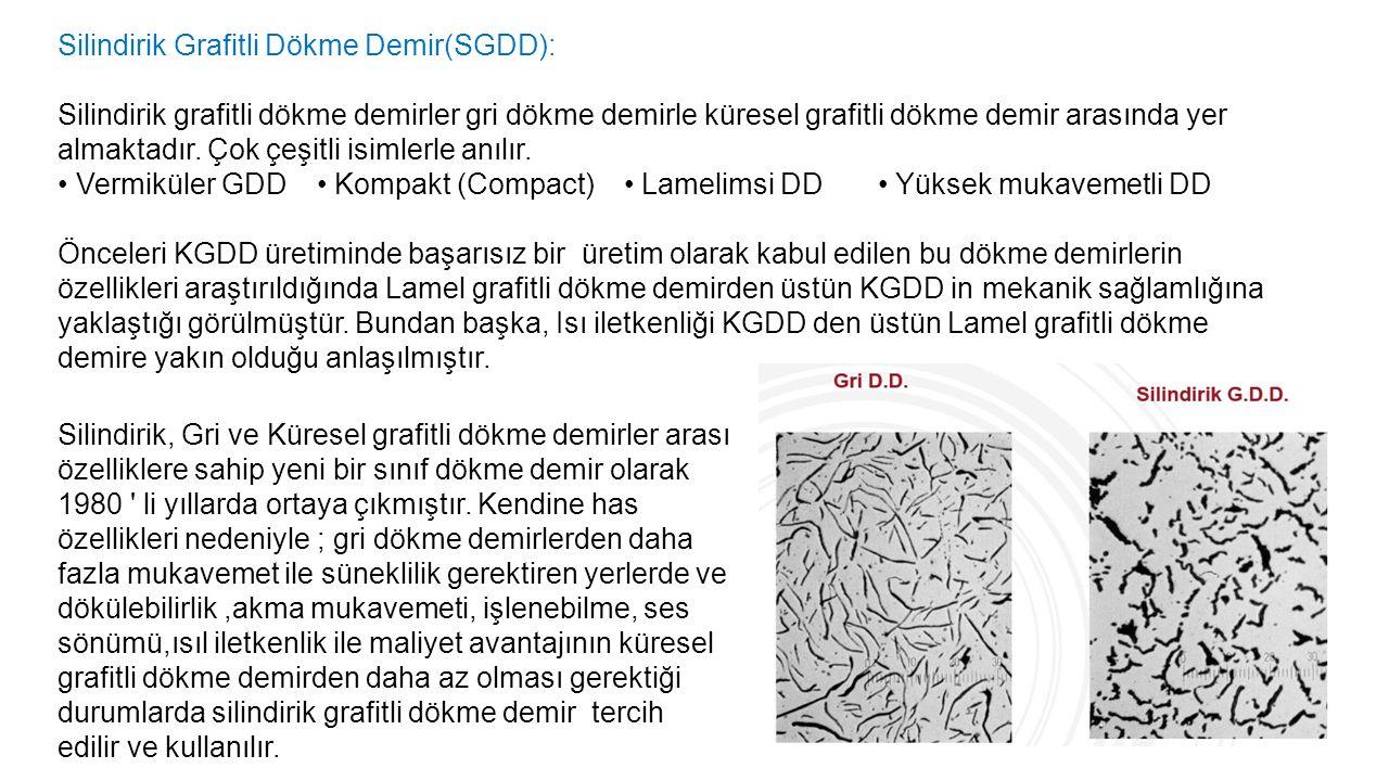Silindirik Grafitli Dökme Demir(SGDD):