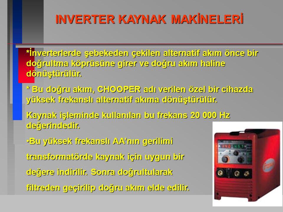 INVERTER KAYNAK MAKİNELERİ