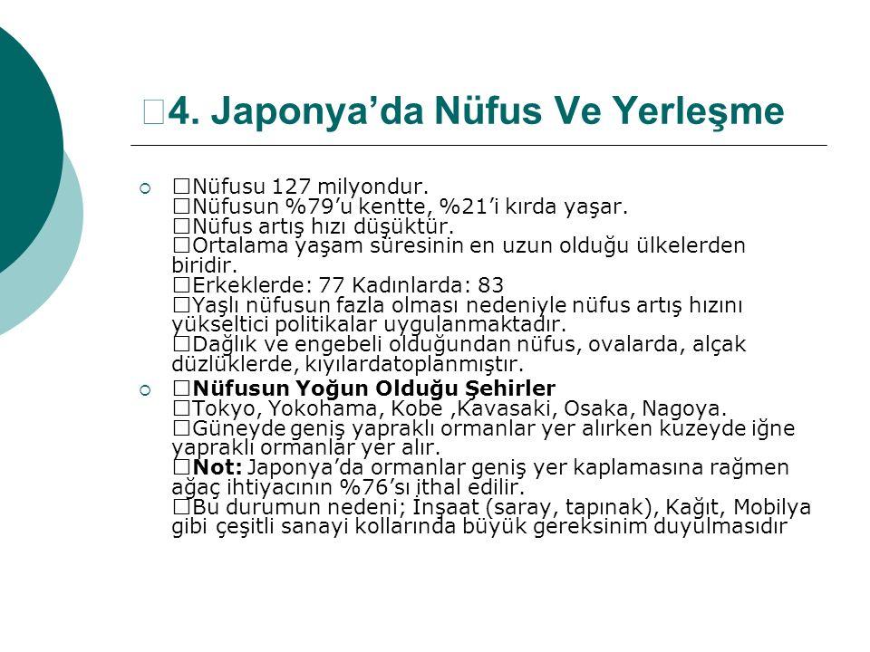 —4. Japonya'da Nüfus Ve Yerleşme