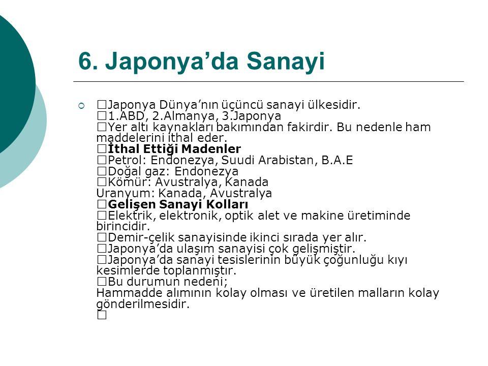 6. Japonya'da Sanayi