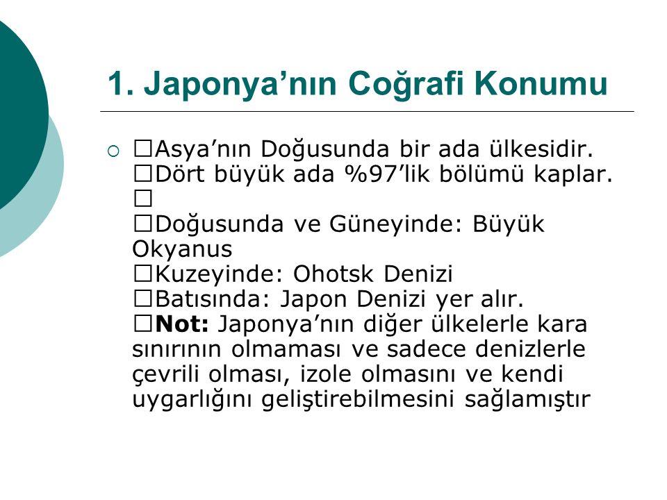 1. Japonya'nın Coğrafi Konumu