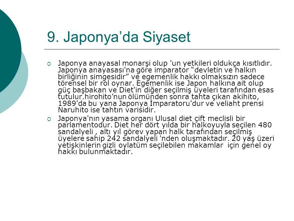 9. Japonya'da Siyaset