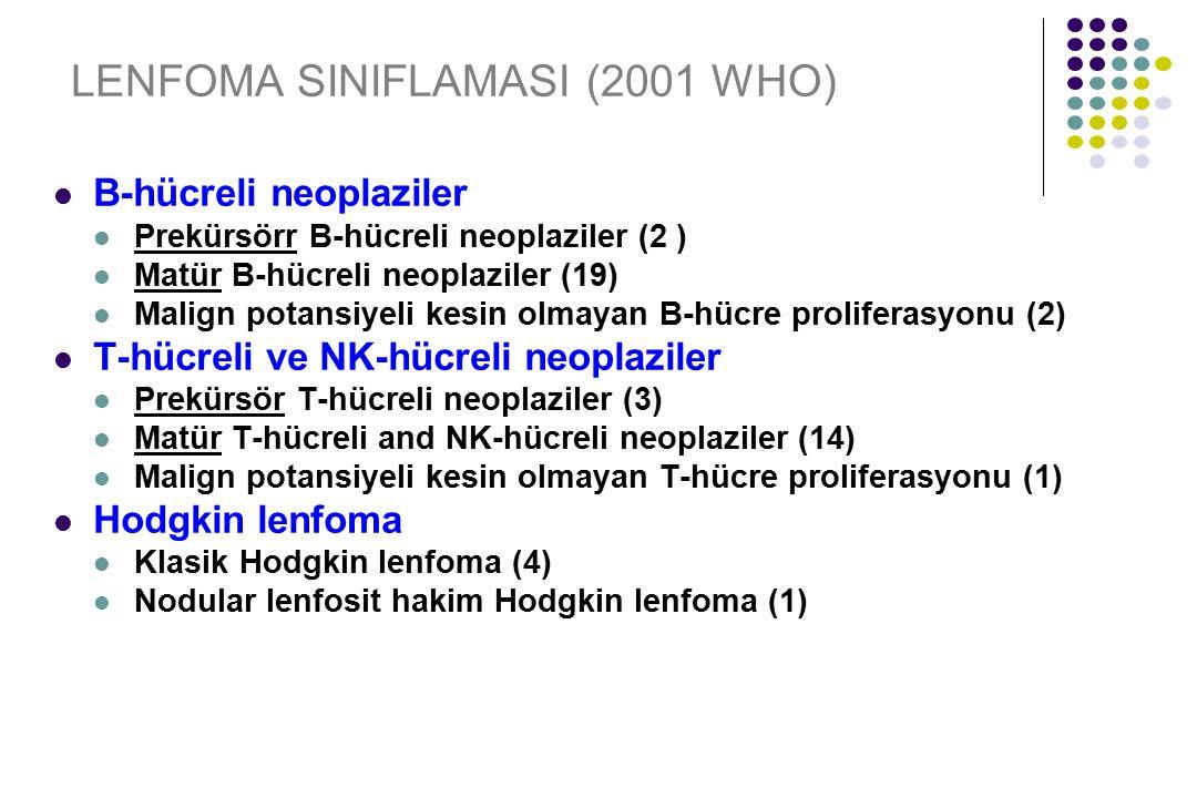 LENFOMA SINIFLAMASI (2001 WHO)