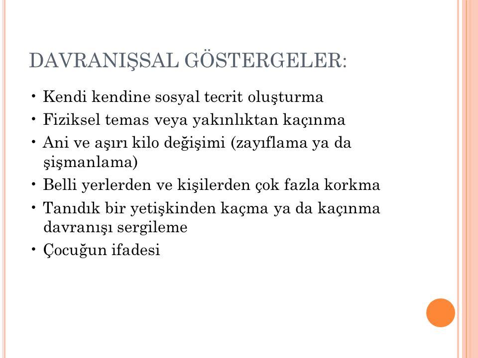 DAVRANIŞSAL GÖSTERGELER: