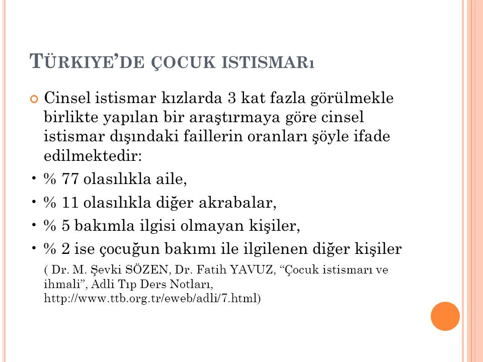 Türkiye'de çocuk istismarı