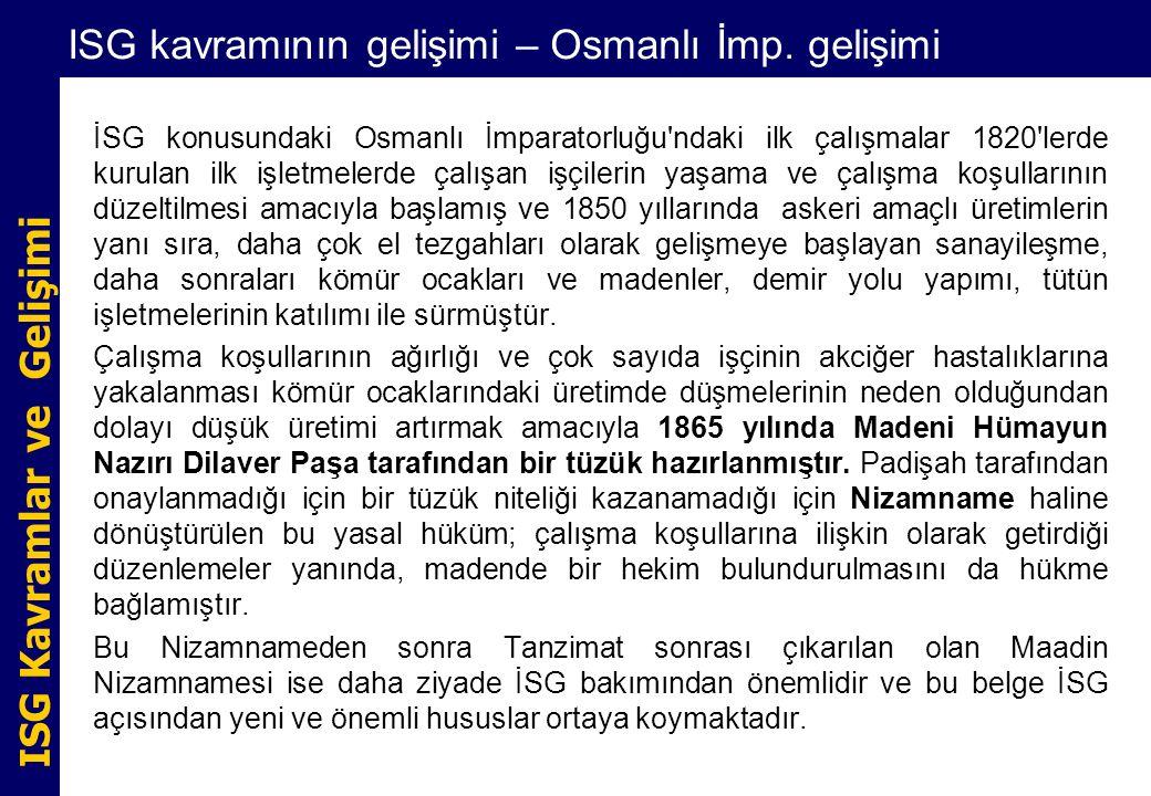 ISG kavramının gelişimi – Osmanlı İmp. gelişimi