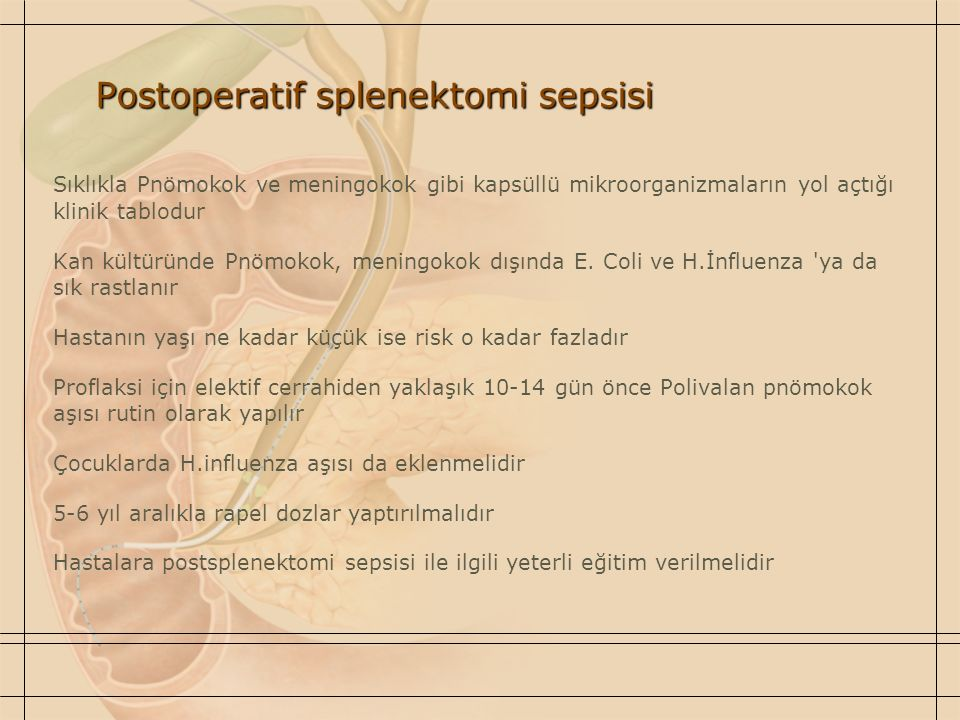 Postoperatif splenektomi sepsisi