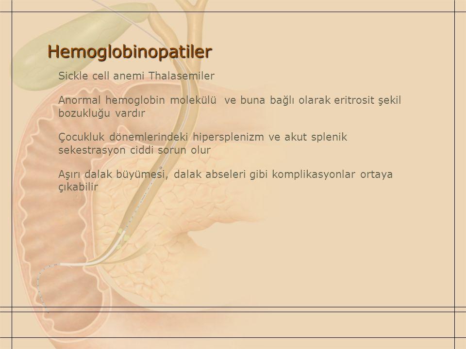 Hemoglobinopatiler Sickle cell anemi Thalasemiler