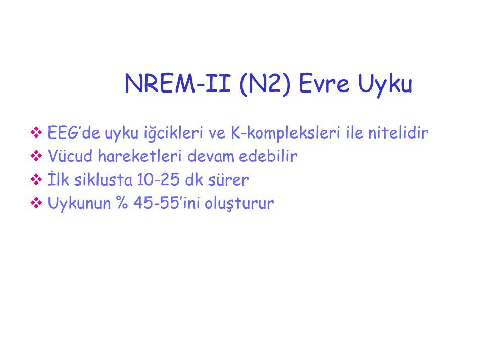 NEDEN UYURUZ Vücud ve beyin dokularının restorasyonu (NREM)
