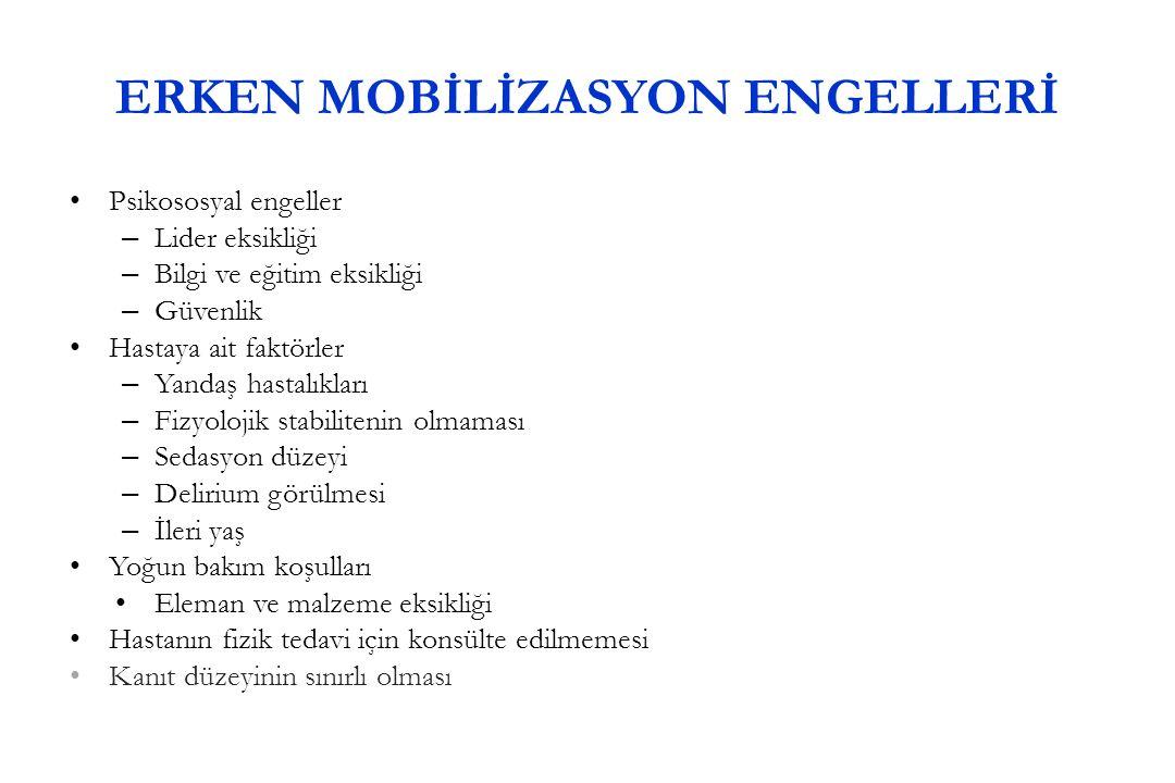 ERKEN MOBİLİZASYON ENGELLERİ