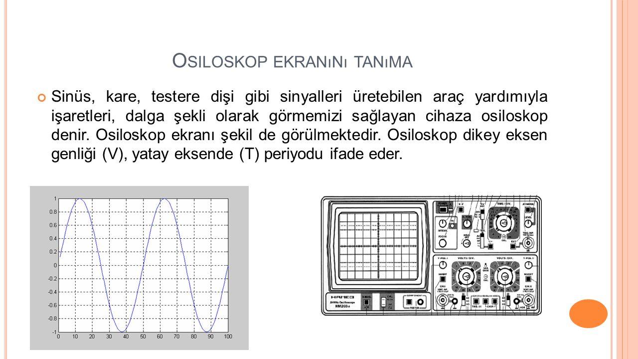 Osiloskop ekranını tanıma